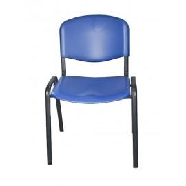 Krzesło konferencyjne ISO plastikowe niebieskie