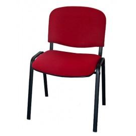 Krzesło konferencyjne ISO materiałowe bordowe