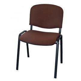 Krzesło konferencyjne ISO materiałowe brązowe