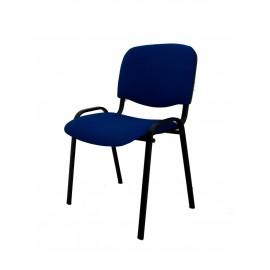 Krzesło konferencyjne ISO materiałowe niebiesko-czarne splot
